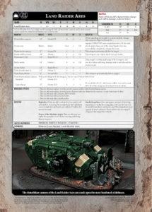 Click to download the Land Raider Ares Datasheet PDF